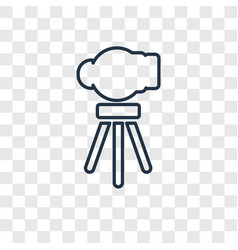 telescope concept linear icon isolated on vector image
