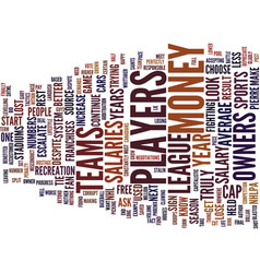 The penalty box text background word cloud concept vector