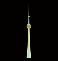tv cn tower in toronto famous world landmarks vector image