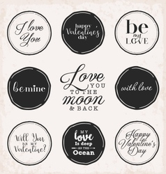 Valentine s Day Vintage Greeting Card Elements vector