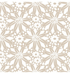 White flower seamless lacy background vector