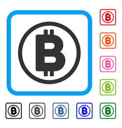 bitcoin rounded framed icon vector image vector image