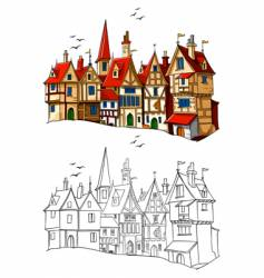 European architecture vector image vector image