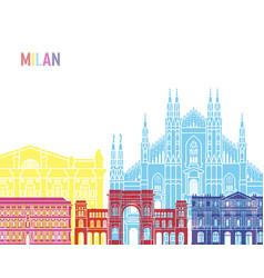 milan skyline pop vector image vector image