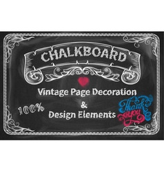 Page Decoration and Design Elements chalkboard vector image vector image