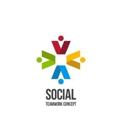 Social Teamwork icon vector image vector image