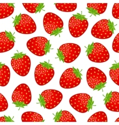 Sweet strawberries background vector image