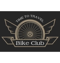 The emblem on the topic of bicycles vector image vector image