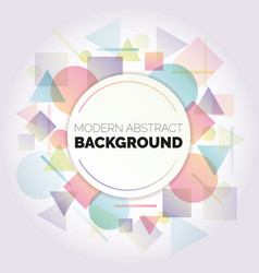 abstract circle pattern background vector image