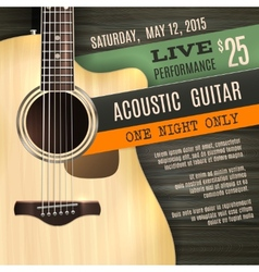 Acoustic Guitar Poster vector image vector image