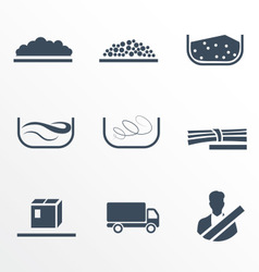 Different types of cargo vector image vector image