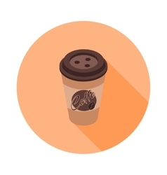 flat isometric icon with a coffee Cup vector image vector image