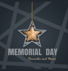 memorial day card design vector image vector image