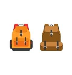 Backpacks isolated school vector image vector image