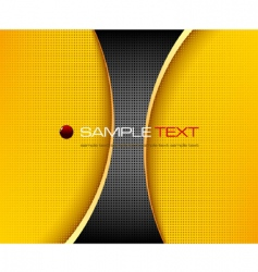 black and yellow background composition vector image vector image