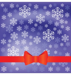 Blue background and snow flakes vector