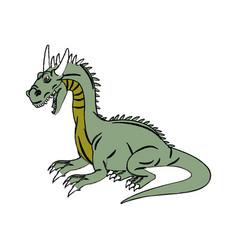 character dragon fantasy animal design vector image