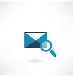 email icon with a magnifying glass vector image vector image