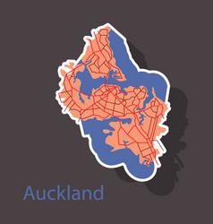 Map - auckland new zealand - sticker- vector