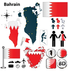 Map of Bahrain vector image vector image