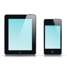 mobile app template vector image vector image
