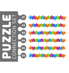 Puzzle connection set vector image vector image