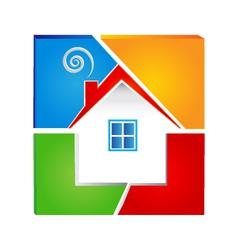 Real estate icon logo vector image