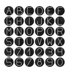 Simple monochrome font complete abc alphabet set vector