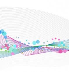 waveform dots vector image vector image