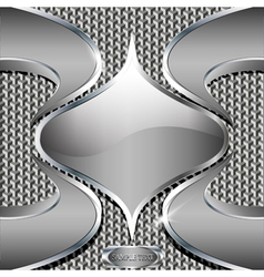 abstract technology metallic background with blue vector image vector image