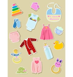 Baby elements vector image