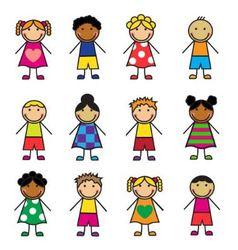 Cartoon children set vector image vector image