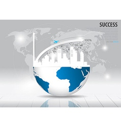 Modern design graph with drawing business strategy vector image