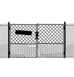 Old gate vector