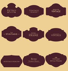 set of retro blank frame vector image