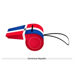 A Beautiful Whistle of The Dominican Republic vector image