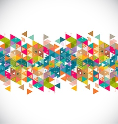 Abstract creative and colorful geometric strip vector image