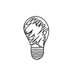 abstract energy bulb power vector image