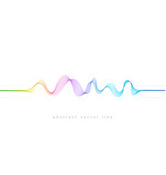abstract flowing wavy lines colorful dynamic wave vector image