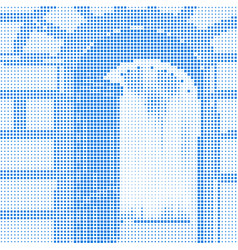 abstract halftone entrance vector image