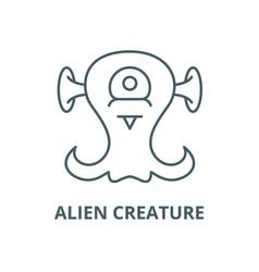 alien creature line icon outline concept vector image