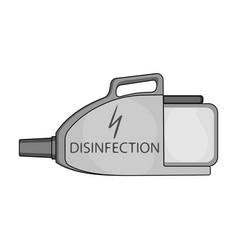 Apparatus for disinfection single icon in vector