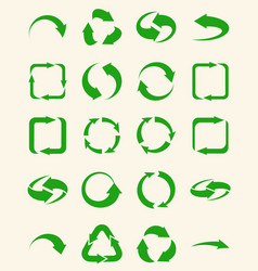 arrows set - ecology icons collection vector image