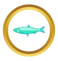Baltic herring icon vector