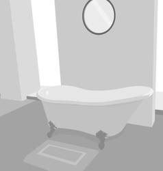 Bathtub scene vector