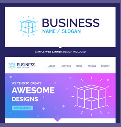 Beautiful business concept brand name box vector