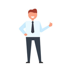businessman throwing up his finger vector image