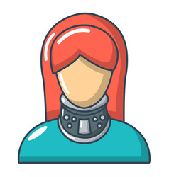 Cervical retainer icon cartoon style vector