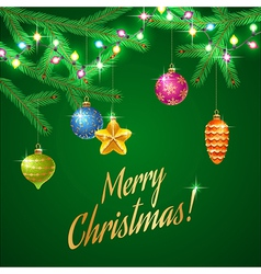Christmas tree garland vector