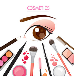 close up eye with makeup vector image
